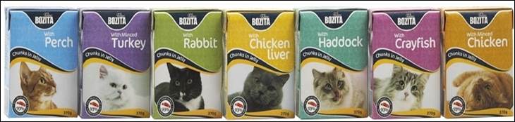 линейка кормов для кошек бозита