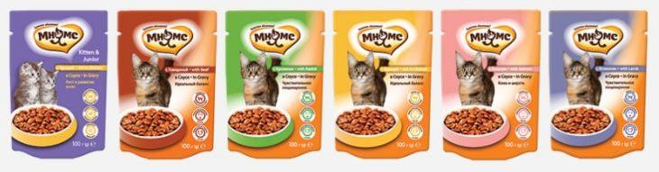 Консервированный корм для кошек Мнямс