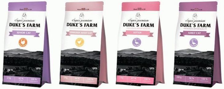 Обзор сухого корма Duke's Farm