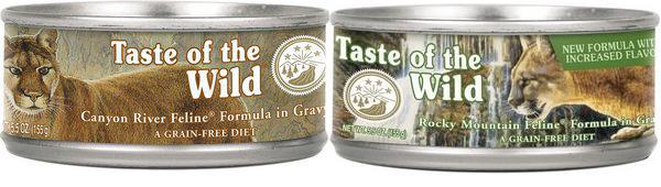 Обзор консервированного корма Taste of the wild