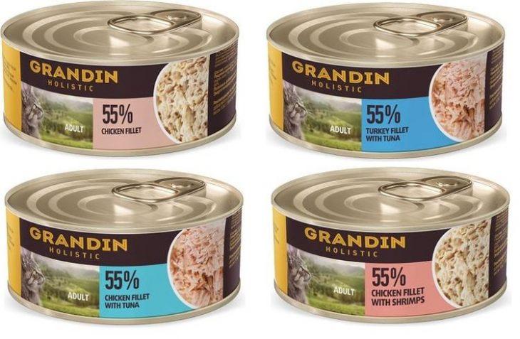 Обзор влажного корма Grandin